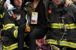 """عشرات الاصابات في خروج قطار عن سكته بنيويورك """"صور"""""""