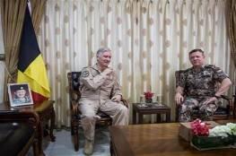 ملك بلجيكا في زيارة لقاعدة بلاده الجوية بالأردن