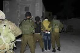 الأحتلال يعتقل 6 مواطنين من مناطق متفرقة بالضفة