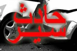 فلسطين : إصابة 4 مواطنين بتصادم مع مركبة إسرائيلية شمال الخليل