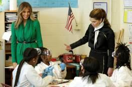 الملكة رانيا وميلانيا ترامب في مدرسة أميركية