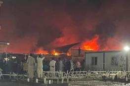 حريق في مستشفى عزل مصابي كورونا في محافظة ذي قار العراقية