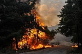 حرائق شمال لبنان تتمدد نحو الحدود السورية