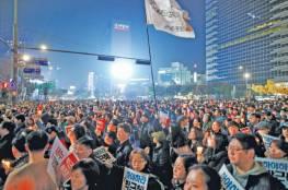 أحتجاجات و مظاهرات متوقعة ضد رئيسة كوريا الجنوبية  عشية الميلاد