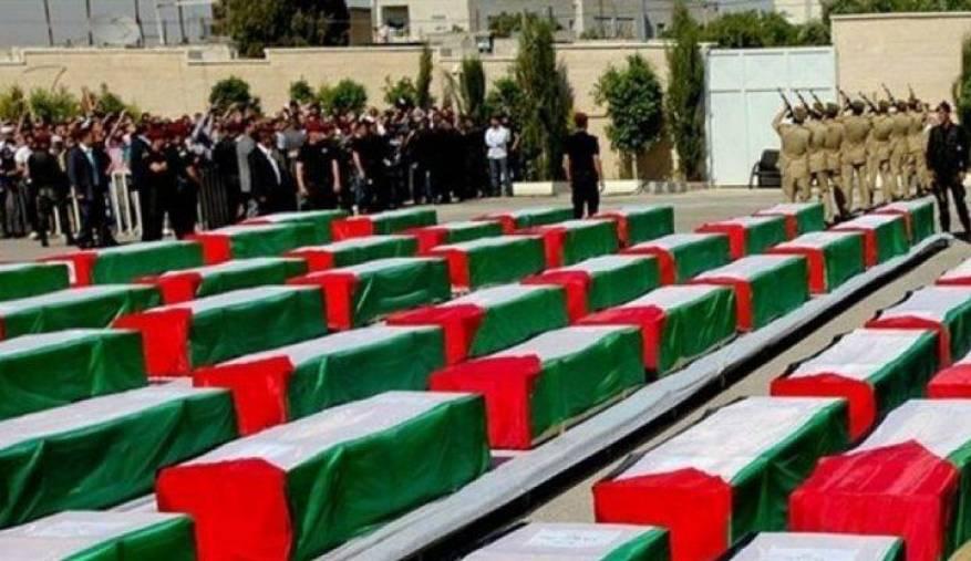 صورة ارشيفية لجثامين شهداء سلمتهم قوات الاحتلال سابقًا