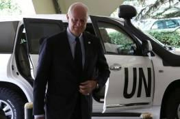 المعارضة السورية تطالب بمفاوضات مباشرة ودي ميستورا يعلق
