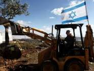 قطعان المستوطنون يجرفون أراضي زراعية جنوب نابلس