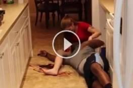 فيديو:حاول الانتحار أمام زوجته