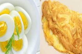 أيهما الأكثر فائدة البيض المسلوق أم المقلي؟