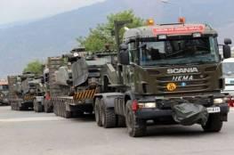 تركيا : تعزيزات عسكرية  جديدة إلى حدود سوريا