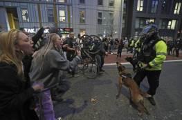 بالصور.. بلطجة وعنف في احتجاجات بمدينة بريستول الإنجليزية