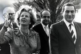 وثائق بريطانية سرية: مبارك عرض لتاتشر توطين الفلسطينيين بمصر