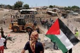 فلسطين : انتهاء مهلة إخلاء الخان الأحمر اليوم