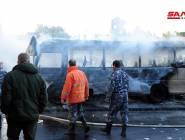 """قتلى وجرحى في تفجير إرهابي """"مزدوج"""" استهدف حافلة في دمشق"""