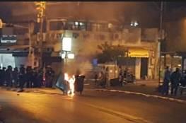 اندلاع مواجهات مع شرطة الإحتلال في مدينة يافا المحتلة.