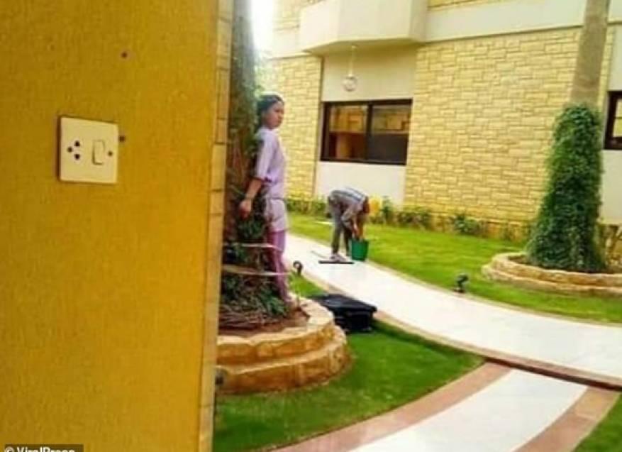 ديلي ميل: عائلة سعودية ثريّة قيدت خادمة فلبينية بشجرة (صور)