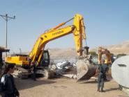 سلطات الاحتلال تهدم مساكن وحظائر في الجفتلك