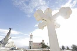 أكبر تمثال للسيد المسيح في العالم العربي يعتلي أعلى قمم القلمون السوري