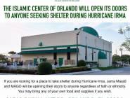 """مساجد فلوريدا تفتح أبوابها لإيواء المتضررين من إعصار """"إرما"""""""
