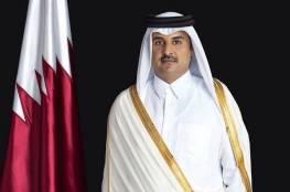 أمير قطر يدعو لحل سياسي للأزمة السورية