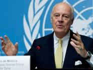بيان: دي ميستورا يستأنف المفاوضات السورية بجنيف في 16 مايو