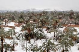 مناخ : تساقط للثلوج في صحراء المغرب للمرة الأولى منذ الستينيات