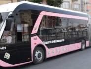 للمرة الأولى في تركيا.. حافلات عامة وردية اللون للنساء فقط