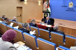 أبرز قرارات الحكومة الفلسطينية  في جلستها اليوم