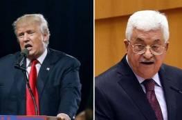 الرئيس الأمريكي ترامب يهاتف السيد الرئيس محمود عباس لأول مرة اليوم