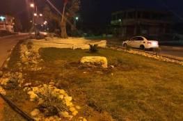 الإحتلال يدمر النصب التذكاري للشهيد خالد نزال في جنين ..وأصابة طفلين في المكان