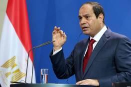 السيسي: القضية الفلسطينية تأتى دائماً على رأس أولويات مصر
