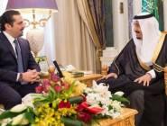 خادم الحرمين الشريفين يستقبل رئيس الوزراء اللبناني المستقيل