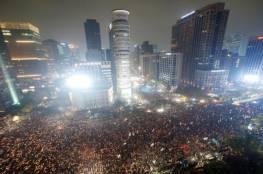 كوريا الجنوبية : مظاهرات تطالب باستقالة الرئيس