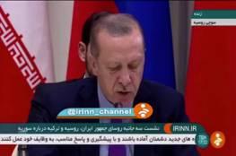 فضيحة: التلفزيون الإيراني يحرف كلمة أردوغان كما حرف كلمة مرسي
