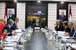 قرارات مجلس الوزراء الفلسطيني في جلسته الاسبوعية