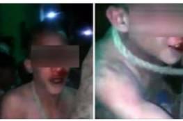 بالفيديو: تجريد شاب من ملابسه والتحرش به وضربه.. السبب صادم!