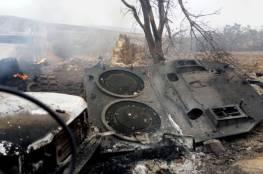 القوات الكردية تدمر دبابة تركية في عفرين.....بالفيديو والصور