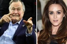 """نجمة أميركية تروي """"تحرش"""" بوش الأب.. والأخير """"يعتذر بصدق"""""""