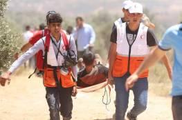 الهلال الأحمر: 386 إصابة خلال مواجهات بيتا وبيت دجن