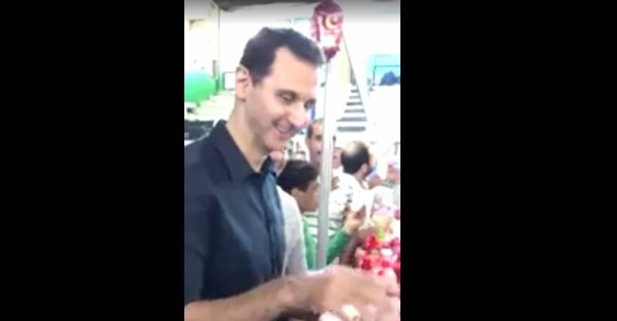 بالفيديو : بشار الاسد يتجول في شوارع دمشق