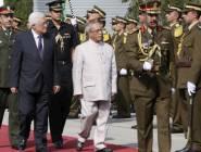 مراسم استقبال رسمية للرئيس الفلسطيني في نيودلهي