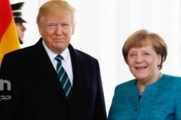 ترامب وميركل يبحثان الوضع في سوريا واليمن وكوريا الشمالية