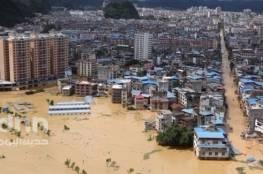 16 قتيلاً و10 في عداد المفقودين بسبب الفيضانات في جنوب الصين
