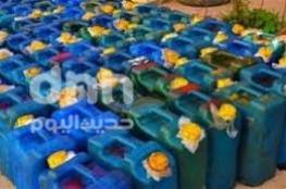 """ضبط """"6000"""" لتر سولار مهرب في مناطق """"ج"""" بمحافظة نابلس"""