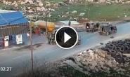 #شاهد: لحظة اعتقال قوات الاحتلال لشاب فلسطيني بعد إصابته بالرصاص الحي خلال مواجهات في بلدة سلواد شرق رام الله، عصر اليوم.