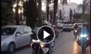 شاهد فيديو | مجموعة من الداراجين التونسين يقومون بجولة تحسيسية (استطلاعيه) رافعين علم فلسطين