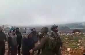 قوات الاحتلال تمنع نشطاء من زراعة أشجار قرب مستوطنة