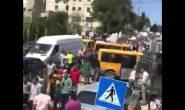الآلاف يتظاهرون ضد قانون الضمان الاجتماعي في مدينة #رام_الله.