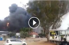 سلسلة من الانفجارات في مصنع الالعاب النارية حصن شارون
