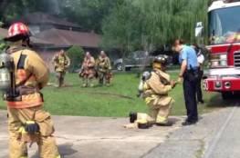 رجل إطفاء يدبر حريقاً لطلب يد صديقته للزواج